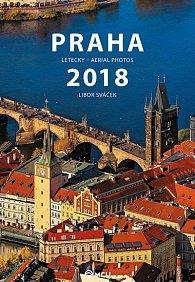 Kalendář nástěnný 2018 - Praha letecky/střední formát