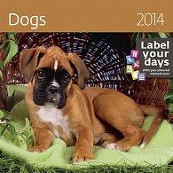 Kalendář 2014 - Dogs - nástěnný