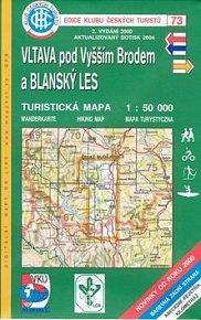 Vltava pod Vyšším Brodem a Blanský les - Turistická mapa - edice Klub českých turistů 73