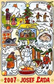 Josef Lada Roční období 2007 - nástěnný kalendář