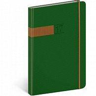 Diář 2017 - Twill - týdenní A5/zelenobronzový