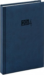 Diář 2014 - Diamante - Denní A4, modrá