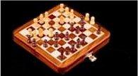 Šachy magnetické cestovní dřevěné