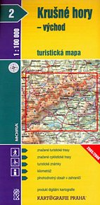 1:100T ( 2)-Krušné hory - VÝCHOD (turistická mapa)