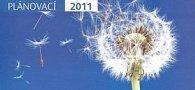 Plánovací modrý 2011 - stolní kalendář