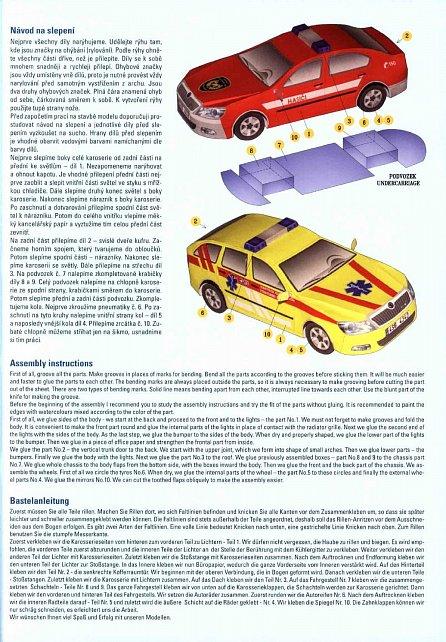 Náhled Jednoduchá vystřihovánka osobní automobily 1 - Škoda Octavia