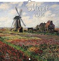 Kalendář 2014 - Claude Monet - nástěnný poznámkový (ANG, NĚM, FRA, ITA, ŠPA, HOL)