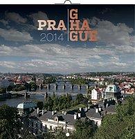Kalendář 2014 - Praha - nástěnný poznámkový (ČES, SLO, MAĎ, POL, RUS, ANG, NĚM, ŠPA)
