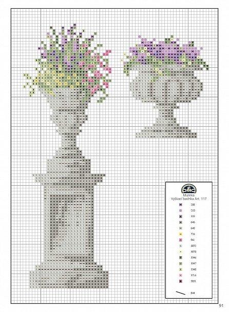 Náhled Zahrada a květiny. 200 motivů pro křížkové vyšívání
