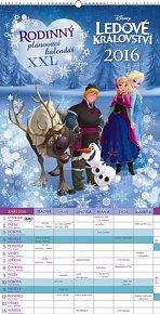Kalendář nástěnný 2016 - W. D. Ledové království - plánovací XXL,  33 x 64 cm