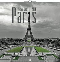 Kalendář 2014 - Paříž Jakub Kasl - nástěnný poznámkový (ANG, NĚM, FRA, ITA, ŠPA, HOL)