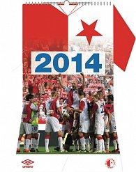 Kalendář 2014 - SK Slavia Praha - nástěnný poznámkový