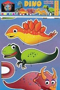 Dino vystřihovánka omalovánka