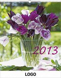 Kalendář 2013 - Květiny praktik, 30 x 34 cm