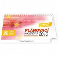 Kalendář stolní 2016 - Plánovací - se světovými a mezinárodními dny, 2016, 25 x 12,5 cm