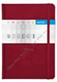 Notes Saturn červený čtverečkovaný A5