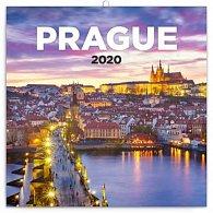 Kalendář poznámkový 2020 - Praha nostalgická, 30 × 30 cm