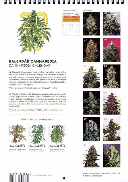 Náhled Kalendář Cannapedia 2017 - Samonakvétací konopné odrůdy