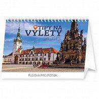 Kalendář stolní 2016 - Tipy na výlety,  23,1 x 14,5 cm