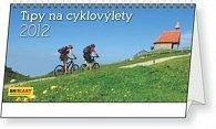 Kalendář stolní  2012 - Tipy na cyklovýlety, 30 x 16 cm