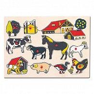 Puzzle - domácí zvířata u statku