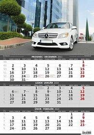 Kalendář 2014 - Auta - 3měsíční - nástěnný