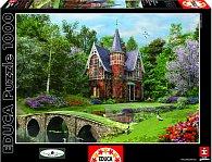 Puzzle Dlážděný můstek v zahradě 1000 dílků