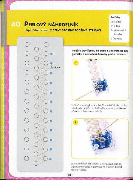Náhled Gumičky Loom Band - 60 originálních ozdob tkaných z barevných gumiček