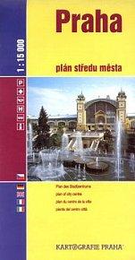 Praha plán středu města 1:15 000