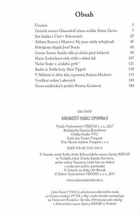 Náhled Krkonošští rodáci vzpomínají - Dramatické příběhy z válečných a poválečných let