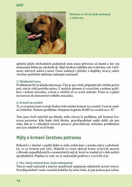 Náhled BARF - Krmení psa přirozenou stravou + recepty a jídelníčky