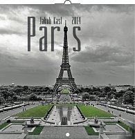 Kalendář 2014 - Paříž Jakub Kasl - nástěnný poznámkový (ČES, SLO, MAĎ, POL, RUS, ANG)