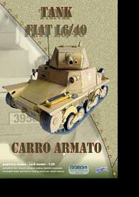 Lehký tank Fiat L6/40 - Stavebnice papírového modelu