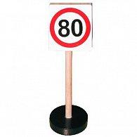 Dopravní značka dřevěná - max rychlost 80 km/hod