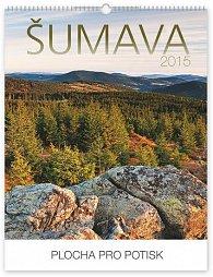 Kalendář 2015 - Šumava s českými jmény Praktik - nástěnný s prodlouženými zády