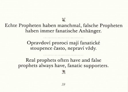 Náhled Aphorismen / Aforismy / Aphorisms