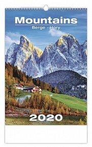 Kalendář nástěnný 2020 - Mountains/Berge/Hory