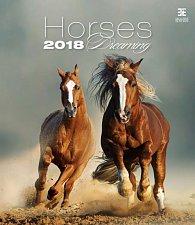 Kalendář nástěnný 2018 - Horses Dreaming/Exclusive