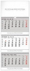 Kalendář nástěnný 2020 - 3měsíční standard skládací CZ, 29,5 × 72 cm