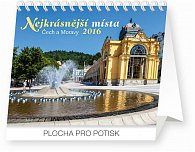 Kalendář stolní 2016 - Nejkrásnější místa Čech a Moravy Praktik,  16,5 x 13 cm