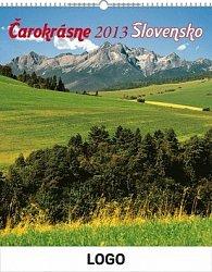 Čarokrásne Slovensko se slovenskými menami SK - nástěnný kalendář 2013
