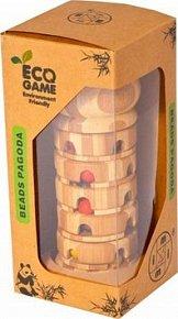 Pagoda s korálky - klasický dřevěný hlavolam podobný Rubikově věži