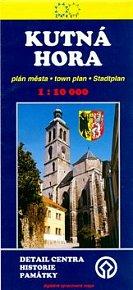 Kutná Hora plán města 1:10 000