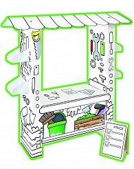 Stánek dílna pro kutily papírový