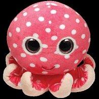 Plyš očka chobotnice pink střední