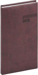 Diář 2013 - Tucson-Vivella - Kapesní, mahagonová, 9 x 15,5 cm
