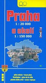 Praha a okolí 1:20 000 / 1:150 000