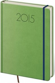Diář 2015 - NEW PRAGA kapesní týdenní s gumičkou - zelená