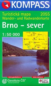 Brno - sever 1:50T turistická mapa
