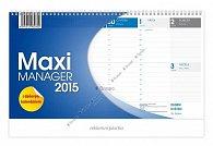 Kalendář 2015 - Maximanager modrý stolní